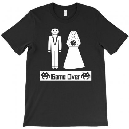 Game Over   Marriage Wedding Bachelor Groom Funny Party Coll Gag Gift T Shirt 1 T-shirt Designed By Mdk Art