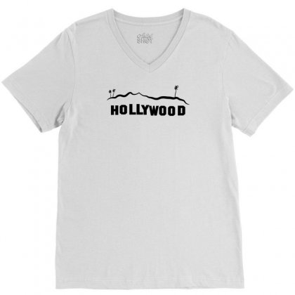 Hollywood V-neck Tee Designed By Manisah