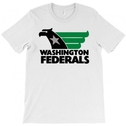 Large Washington Federals Usfl Vintage College Funny Mens T Shirt T-shirt Designed By Mdk Art