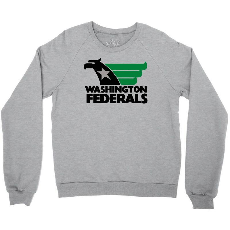 24170ebf large washington federals usfl vintage college funny mens t shirt Crewneck  Sweatshirt