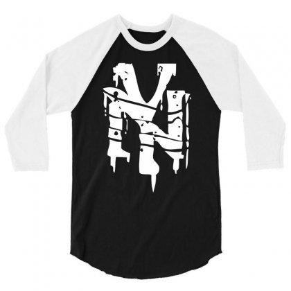 Nyc Drips New York City Stencil Graffiti Street Art Scene Logo Mens T Shirt 3/4 Sleeve Shirt Designed By Mdk Art