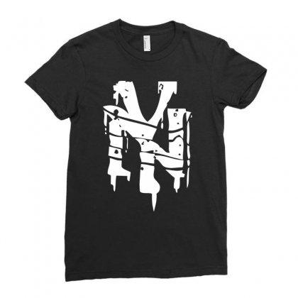 Nyc Drips New York City Stencil Graffiti Street Art Scene Logo Mens T Shirt Ladies Fitted T-shirt Designed By Mdk Art