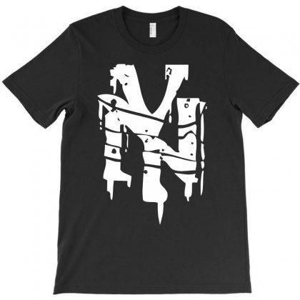 Nyc Drips New York City Stencil Graffiti Street Art Scene Logo Mens T Shirt T-shirt Designed By Mdk Art
