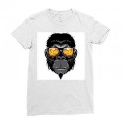 Monkey Cool Ladies Fitted T-Shirt | Artistshot