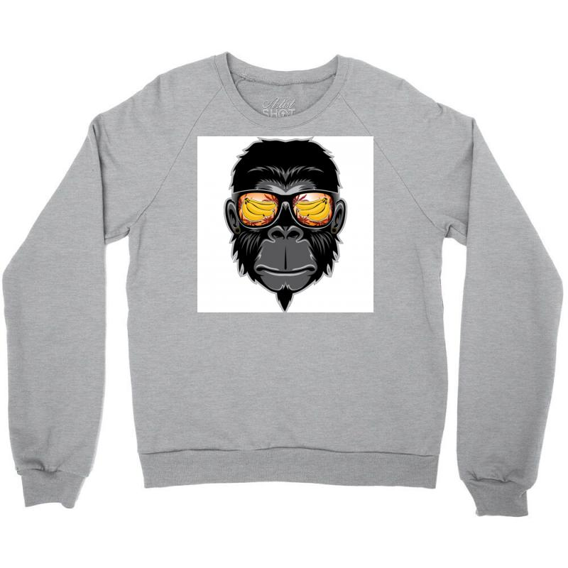 Monkey Cool Crewneck Sweatshirt | Artistshot