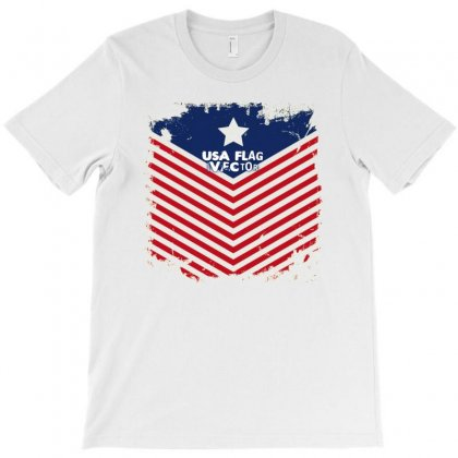 Usa Flag Vector T-shirt Designed By Achmad