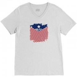 USA Flag Vector V-Neck Tee | Artistshot