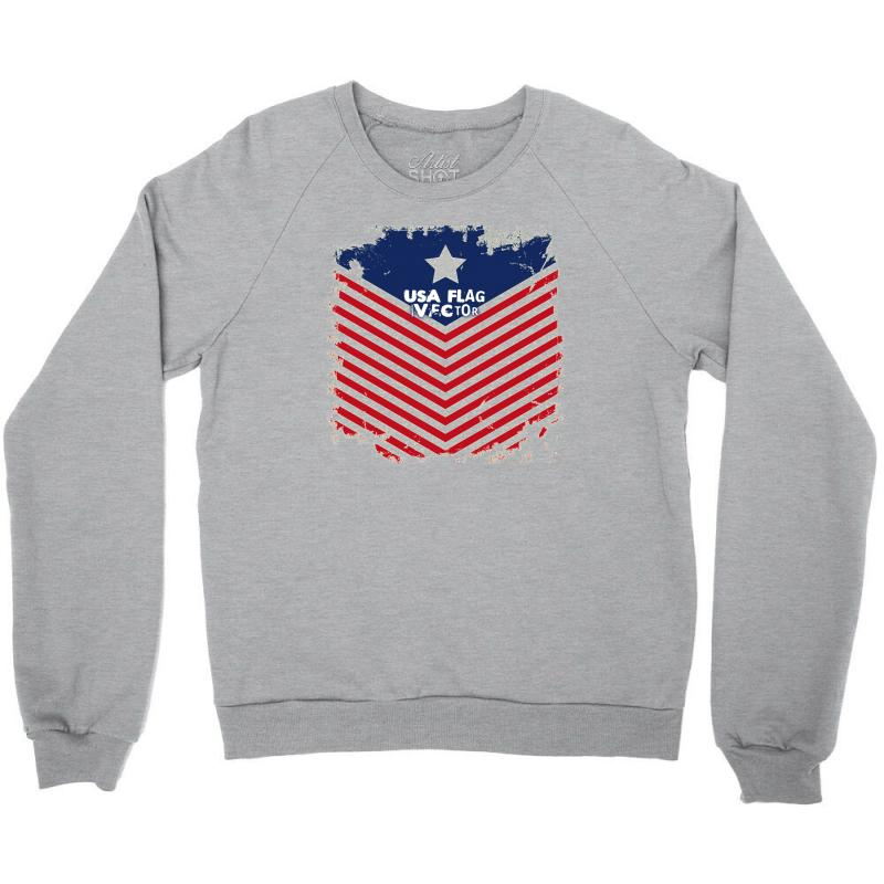 Usa Flag Vector Crewneck Sweatshirt | Artistshot
