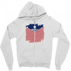 USA Flag Vector Zipper Hoodie | Artistshot