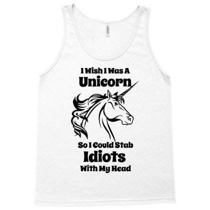I Wish I Was A Unicorn Tank Top Designed By Gematees