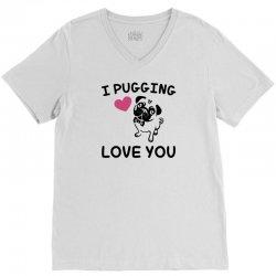 love you  pug V-Neck Tee | Artistshot