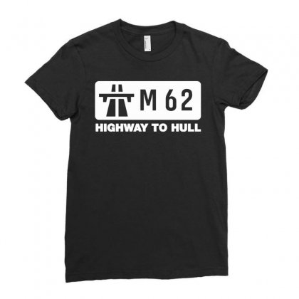 M62 Highway To Hull Ladies Fitted T-shirt Designed By Gematees