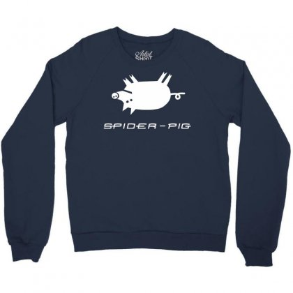 Spider Pig Crewneck Sweatshirt Designed By Gematees