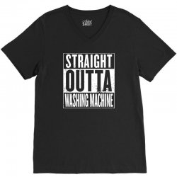 straight outta washing machine V-Neck Tee | Artistshot