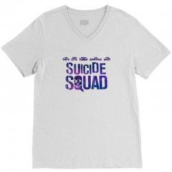 Suicide Squad V-Neck Tee   Artistshot