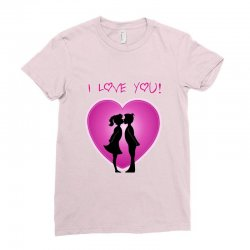 I love you Ladies Fitted T-Shirt | Artistshot