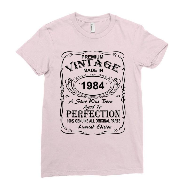 Birthday Gift Ideas For Men And Women Was Born 1984 Ladies Fitted T Shirt