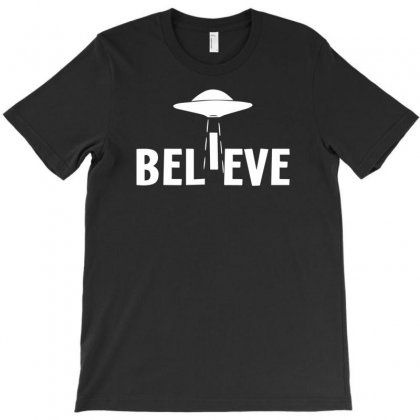 Believe Ufo T-shirt Designed By Tonyhaddearts