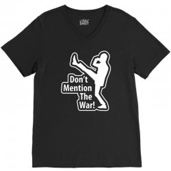 don't mention the war V-Neck Tee | Artistshot
