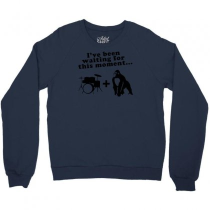 Gorilla + Drums Crewneck Sweatshirt Designed By Gematees