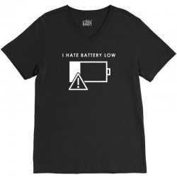 hate battery low V-Neck Tee | Artistshot