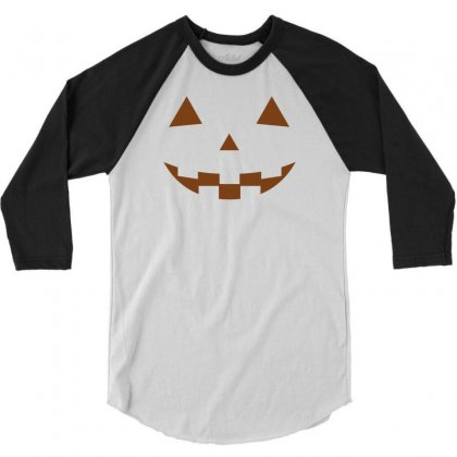 Halloween 3/4 Sleeve Shirt Designed By Designbysebastian