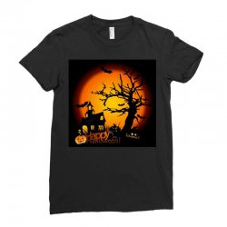 Happy Halloween Ladies Fitted T-Shirt | Artistshot