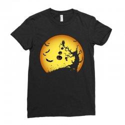 Night Halloween Ladies Fitted T-Shirt | Artistshot