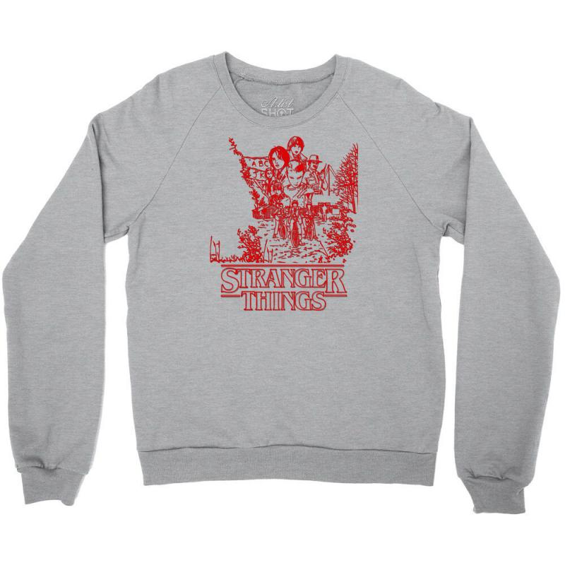 Stranger Things Red Crewneck Sweatshirt | Artistshot