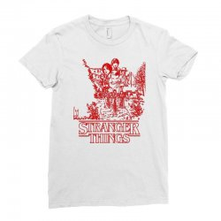 stranger things red Ladies Fitted T-Shirt | Artistshot