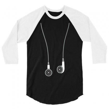 Earphone 3/4 Sleeve Shirt Designed By Tshiart