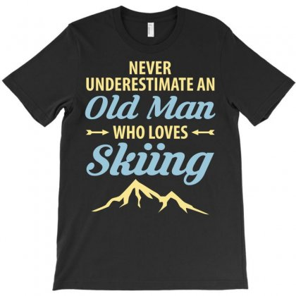 Never Underestimate An Old Man Who Loves Skiing T-shirt Designed By Tshiart