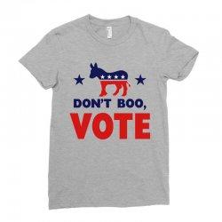 Don't Boo Vote 02 Ladies Fitted T-Shirt | Artistshot
