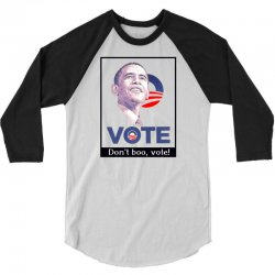 Vote Obama 3/4 Sleeve Shirt   Artistshot