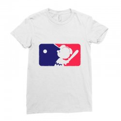 Peanuts League Baseball Ladies Fitted T-Shirt | Artistshot