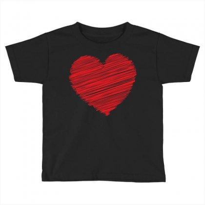 Heart Toddler T-shirt Designed By Designbysebastian