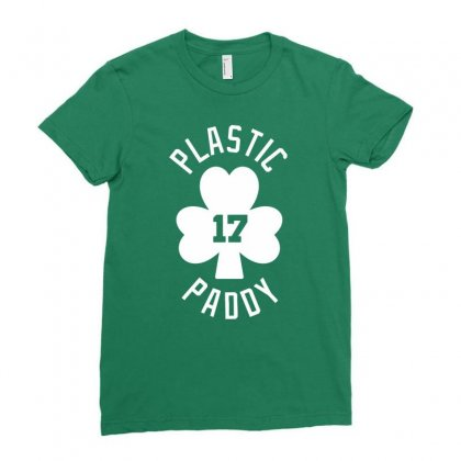 Plastic Paddy Ladies Fitted T-shirt Designed By Gematees