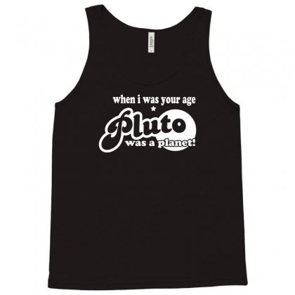 Pluto Was A Planet! Tank Top Designed By Gematees