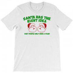 santa has the right idea T-Shirt | Artistshot