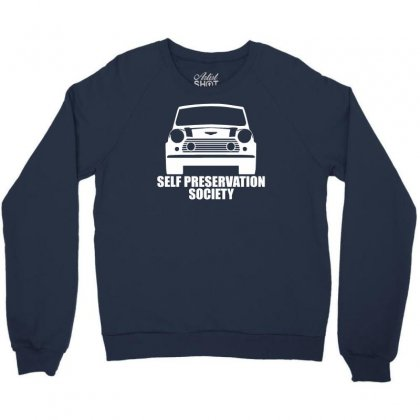 Self Preservation Society Crewneck Sweatshirt Designed By Gematees