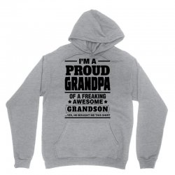 Proud Grandpa Of A Freaking Awesome Grandson Unisex Hoodie | Artistshot