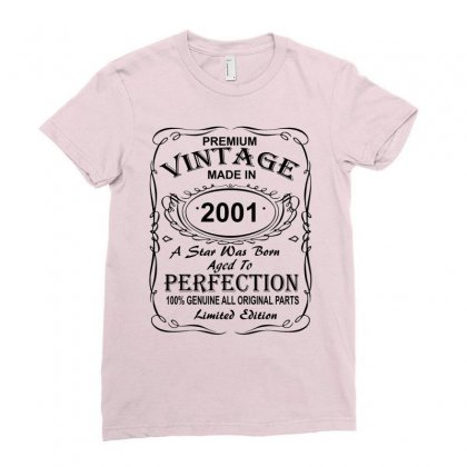 Birthday Gift Ideas For Men And Women Was Born 2001 Ladies Fitted T-shirt Designed By Killakam