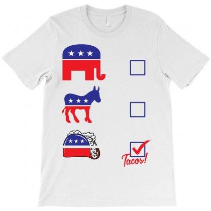 Political Tacos Vote T-shirt Designed By Designbysebastian