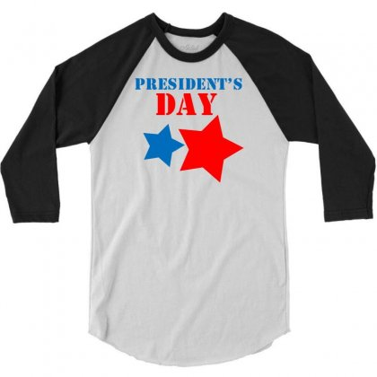 President Day 3/4 Sleeve Shirt Designed By Marla_arts