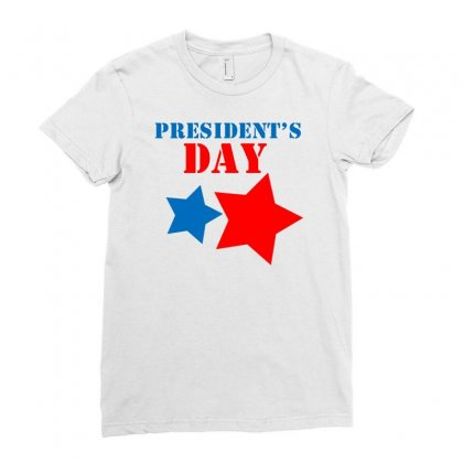 President Day Ladies Fitted T-shirt Designed By Marla_arts