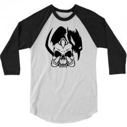 music skull 3/4 Sleeve Shirt | Artistshot