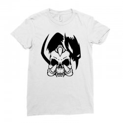 music skull Ladies Fitted T-Shirt | Artistshot