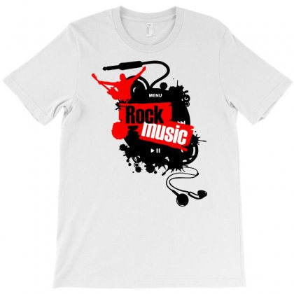 Rock Music Buttons With Headphones T-shirt Designed By Marla_arts