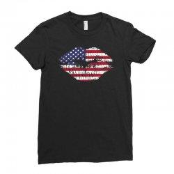 usa kiss Ladies Fitted T-Shirt | Artistshot