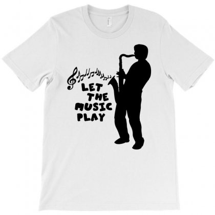Let The Music Play T-shirt Designed By Marla_arts